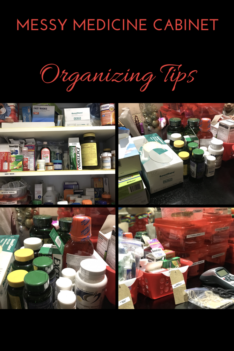 Messy Medicine Cabinet Organizing Tips